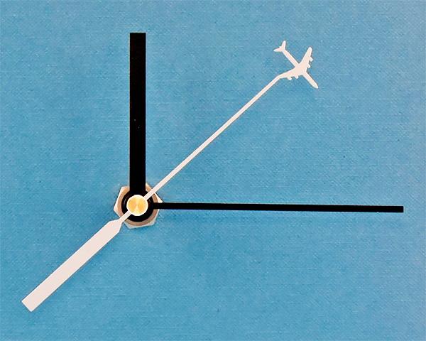 時計針 ストレート(黒)飛行機秒針